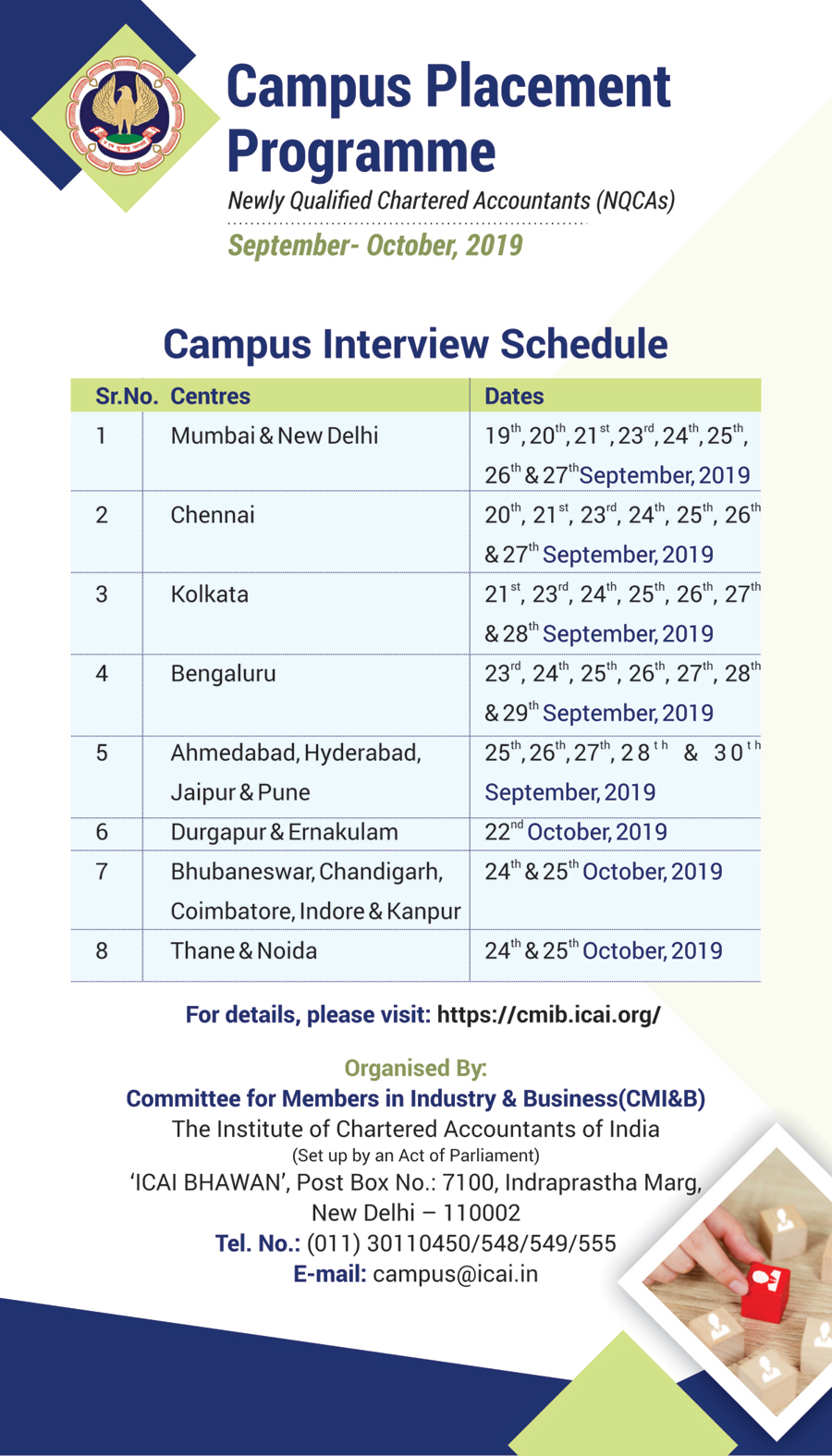 ICAI's 50th Campus Placement Programme